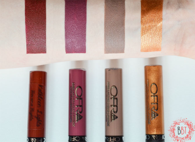 Beauty Bang Theory - Ofra Liquid Lipsticks and swatches