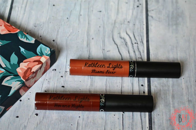Beauty Bang Theory - Ofra - Kathleen Lights - Havana Nights lips and Miami Fever