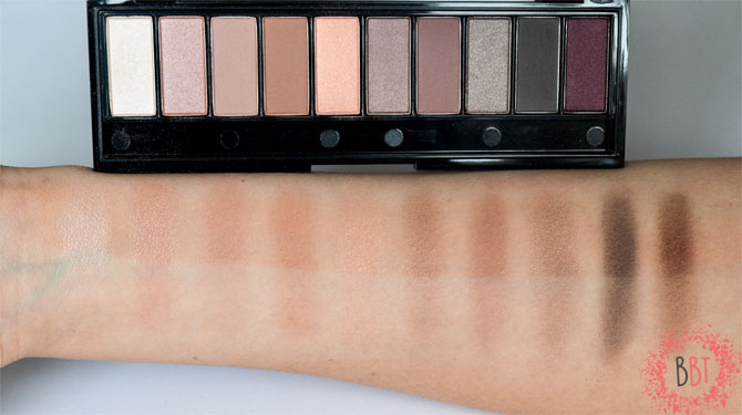 Beauty Bang theory - loreal la palette nude swatch